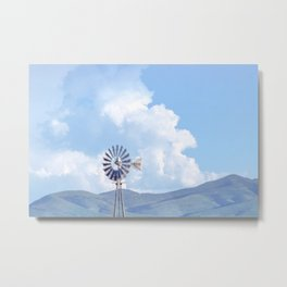 """Blue Windmill Blue Sky"" by Murray Bolesta Metal Print"