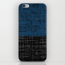 platno (blue) iPhone Skin