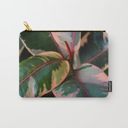 Peachy Leaves Carry-All Pouch