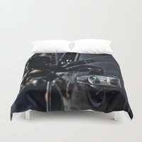 volkswagen Duvet Covers featuring volkswagen turtle by gzm_guvenc