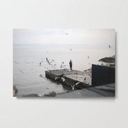 Winter Sea Metal Print