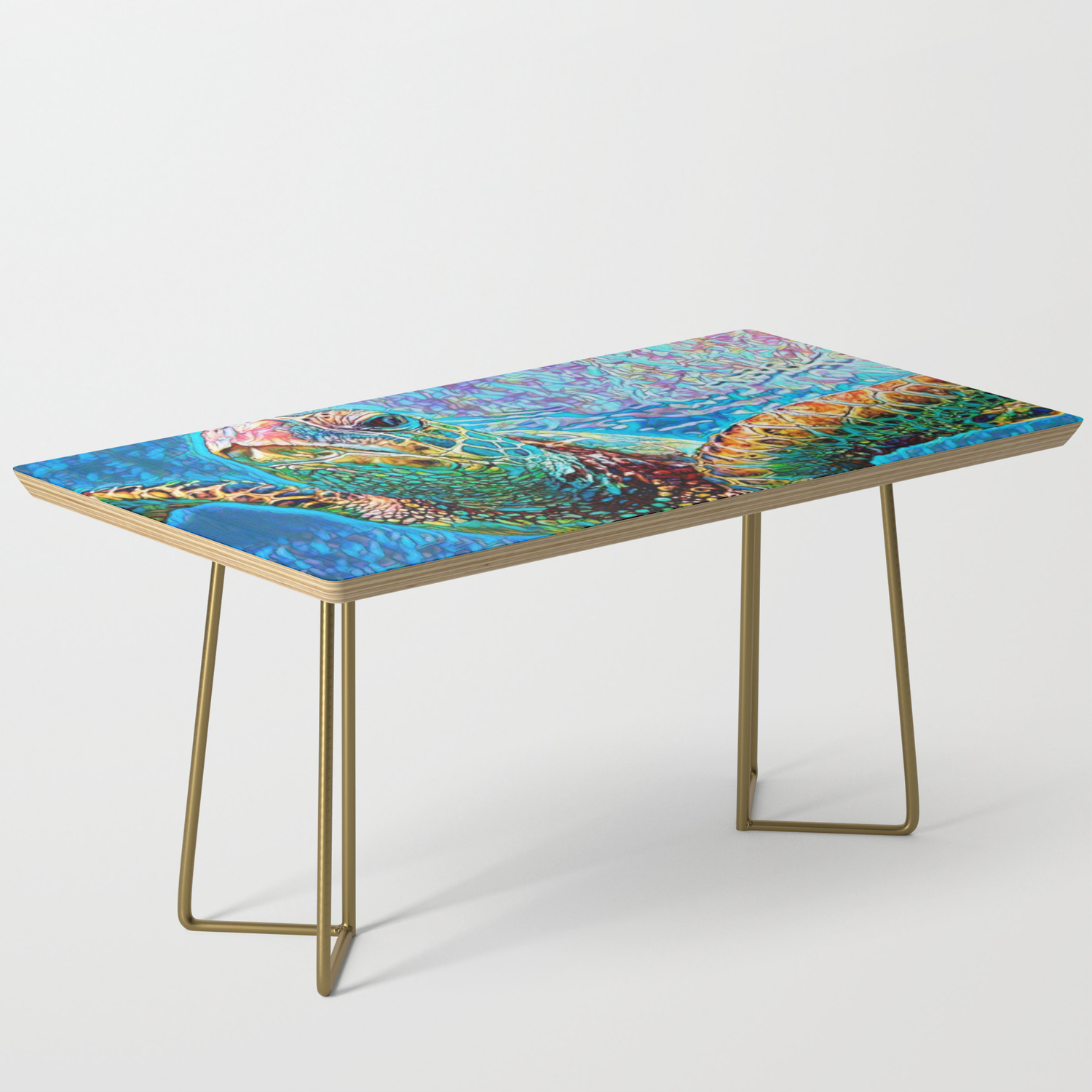 - Gliding Through Colors Coffee Table By Freshbeansart Society6