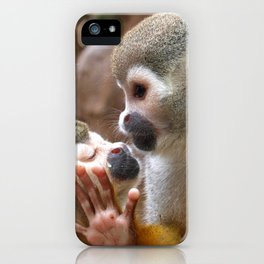 Monkey Love and Attitude  iPhone Case