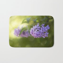 Lilac syringa in LOVE - Spring Tree Flower photography Bath Mat