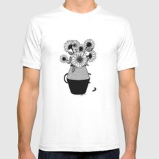 Van Gogh White MEDIUM Mens Fitted Tee
