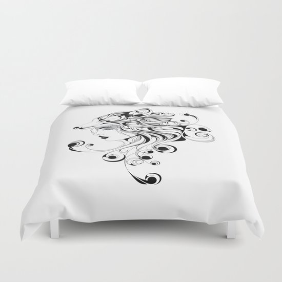 Fox Girl Duvet Cover