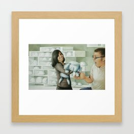 The Touch Framed Art Print