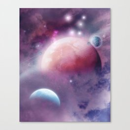 Pink Space Dream Canvas Print