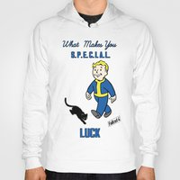 fallout 3 Hoodies featuring Luck S.P.E.C.I.A.L. Fallout 4 by sgrunfo