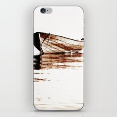 Wooden boat iPhone & iPod Skin