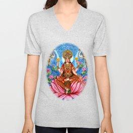 Goddess Lakshmi Unisex V-Neck