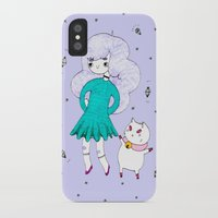 bee and puppycat iPhone & iPod Cases featuring Bee and Puppycat  by Alxndra Cook