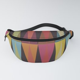 Party Argyle on Chocolate Brown Fanny Pack