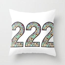 master number 222 Throw Pillow