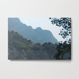 Inside Rock Canyon Hiking the Trail Vista View Mountain Nature Photography Metal Print