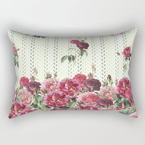Rose Rain Rectangular Pillow