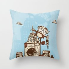 Laundry Monkie Throw Pillow