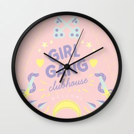 Girl Gang Clubhouse Wall Clock