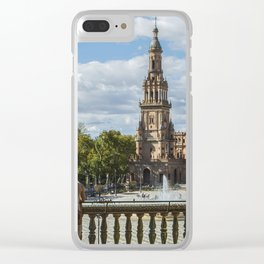 Chilling at Plaza de Espada, Seville Clear iPhone Case