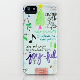 Christmas Manifesto iPhone Case