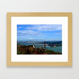 Golden From Afar  Framed Art Print
