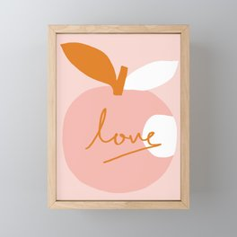 Abstraction_LOVE_BITE Framed Mini Art Print