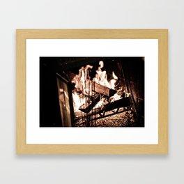 Fireplace Framed Art Print