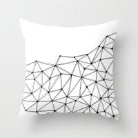 polygon Throw Pillows featuring Polygon by Boneva