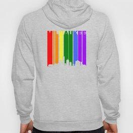 Milwaukee Gay Pride Rainbow Cityscape Hoody