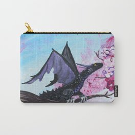 Baby Black Dragon in Cherry Tree Carry-All Pouch