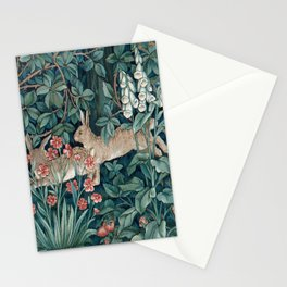 William Morris Forest Rabbits and Foxglove Stationery Cards