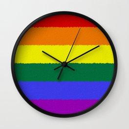 Pride Flag Wall Clock