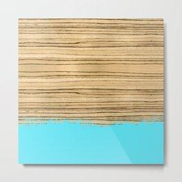 Dipped Wood - Zebrawood Metal Print