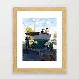 Spring Cleaning Framed Art Print