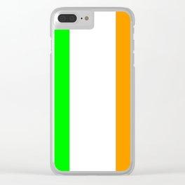 flag of ireland 5 -ireland,eire,airlann,irish,gaelic,eriu,celtic,dublin,belfast,joyce,beckett Clear iPhone Case