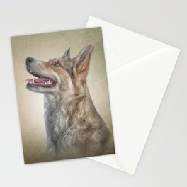 Drawing Mongrel dog Stationery Cards