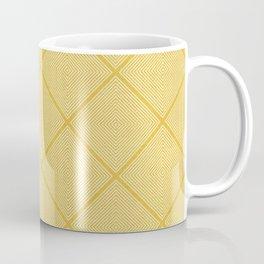 Stitched Diamond Geo in Yellow Coffee Mug