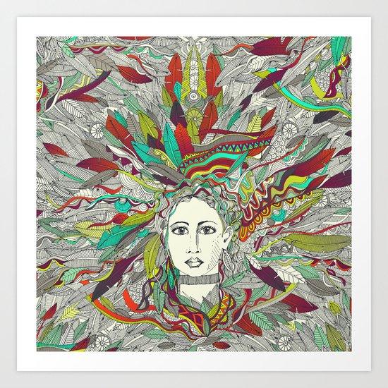 Goddess Aurora Art Print