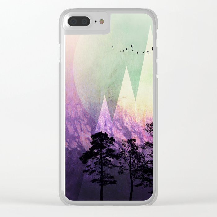 TREES under MAGIC MOUNTAINS VII Clear iPhone Case