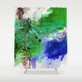 Abstract Composition 6I by Kathy Morton Stanion Shower Curtain