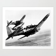 Vintage fighters Art Print