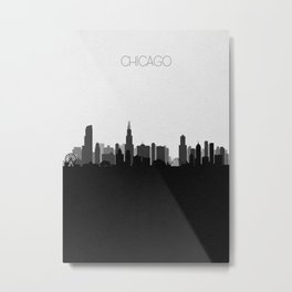 City Skylines: Chicago (Alternative) Metal Print