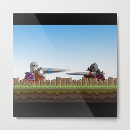 Joust It Metal Print