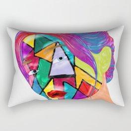 Portrait of Face Mask Rectangular Pillow