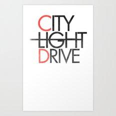 City Light Drive Art Print