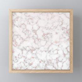 rose gold marble Framed Mini Art Print