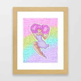 She Is Confident II Framed Art Print