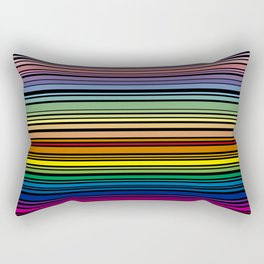 Multicolored lines with black background Rectangular Pillow