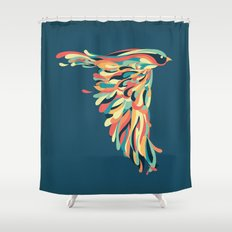 Downstroke Shower Curtain