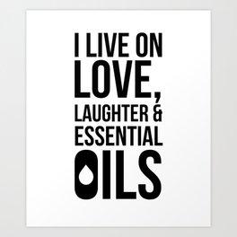 CUTE PRETTY ESSENTIAL OIL DIFFUSER designS - LIVE LOVE Art Print